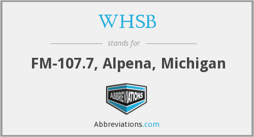 WHSB - FM-107.7, Alpena, Michigan