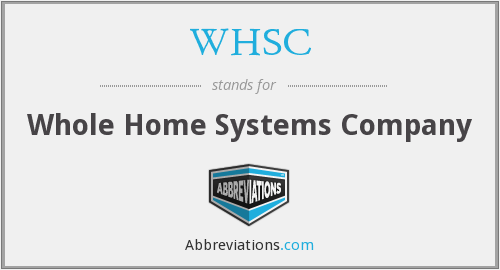 WHSC - Whole Home Systems Company