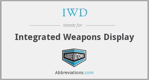 IWD - Integrated Weapons Display