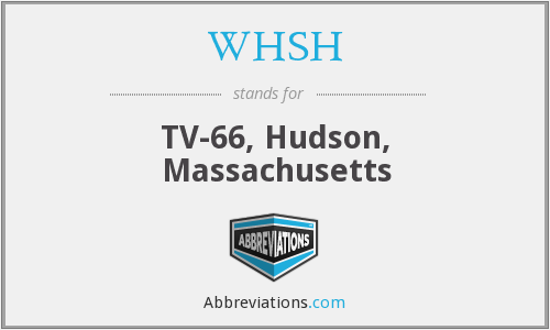 What does WHSH stand for?