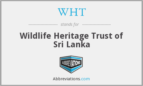 WHT - Wildlife Heritage Trust of Sri Lanka