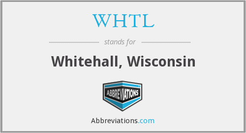 WHTL - Whitehall, Wisconsin