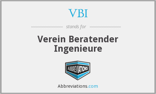VBI - Verein Beratender Ingenieure