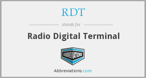 RDT - Radio Digital Terminal