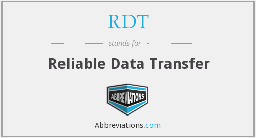 RDT - Reliable Data Transfer