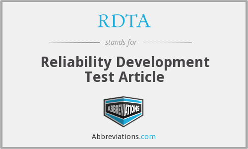 What does RDTA stand for?