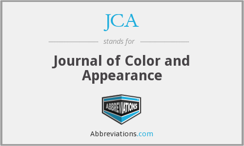 JCA - Journal of Color and Appearance