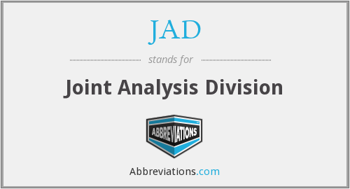 JAD - Joint Analysis Division