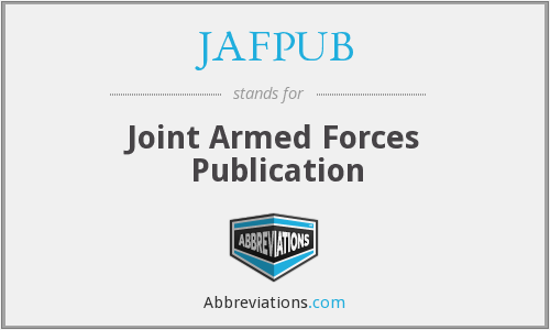 What does JAFPUB stand for?