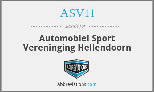 ASVH - Automobiel Sport Vereninging Hellendoorn