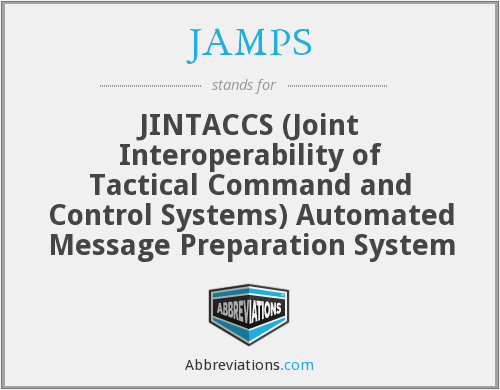 JAMPS - JINTACCS (Joint Interoperability of Tactical Command and Control Systems) Automated Message Preparation System