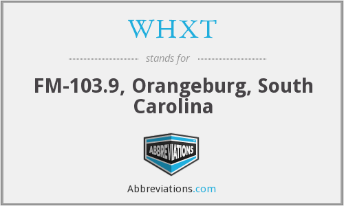 WHXT - FM-103.9, Orangeburg, South Carolina