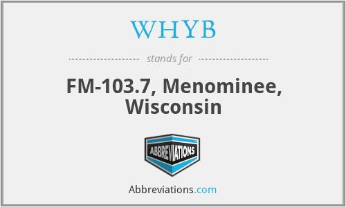 WHYB - FM-103.7, Menominee, Wisconsin