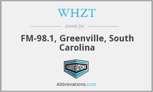WHZT - FM-98.1, Greenville, South Carolina