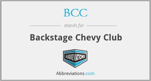 BCC - Backstage Chevy Club