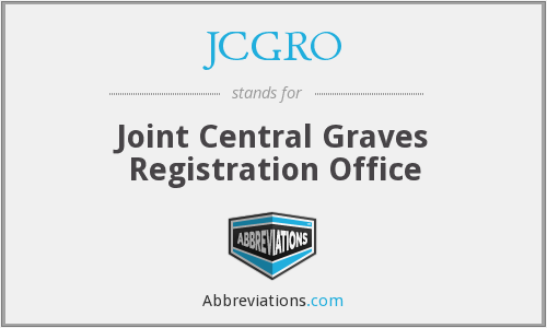 JCGRO - Joint Central Graves Registration Office