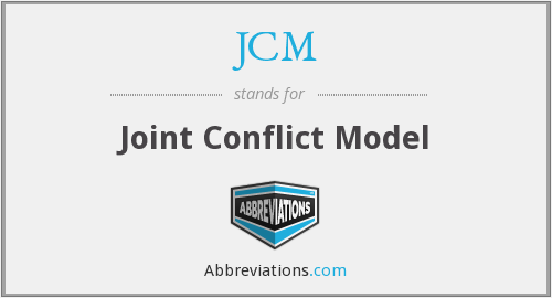 JCM - Joint Conflict Model