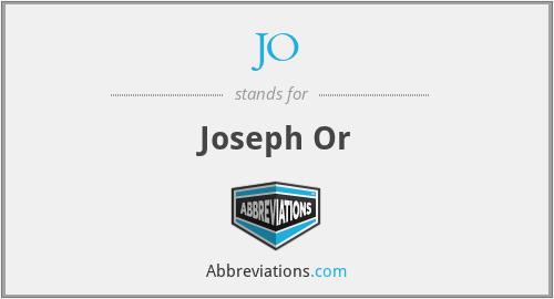 JO - Joseph Or