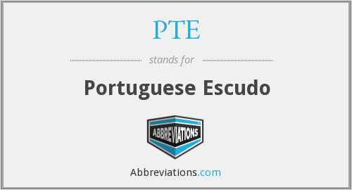 PTE - Portuguese Escudo
