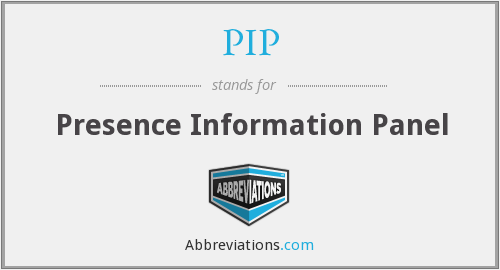PIP - Presence Information Panel
