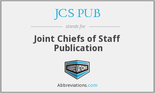 What does JCS PUB stand for?