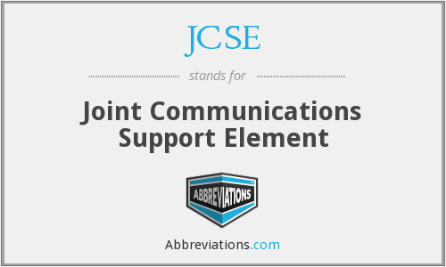 JCSE - Joint Communications Support Element