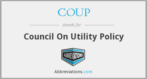 What does COUP stand for?