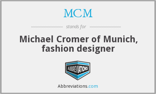 Mcm Michael Cromer Of Munich Fashion Designer