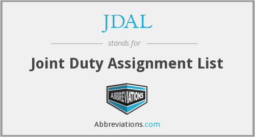 What does JDAL stand for?