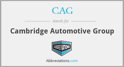 CAG - Cambridge Automotive Group