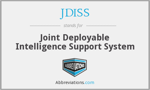 JDISS - Joint Deployable Intelligence Support System