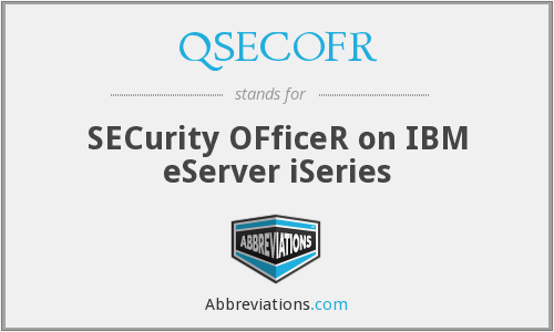 QSECOFR - SECurity OFficeR on IBM eServer iSeries