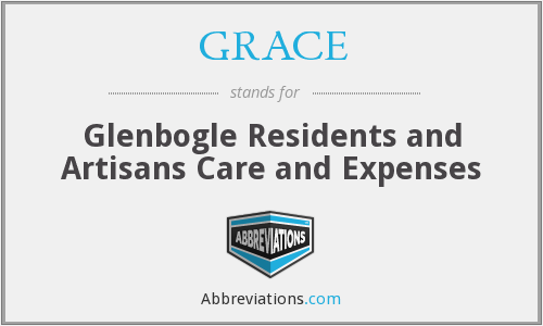 GRACE - Glenbogle Residents and Artisans Care and Expenses