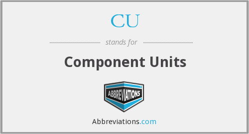 CU - Component Units