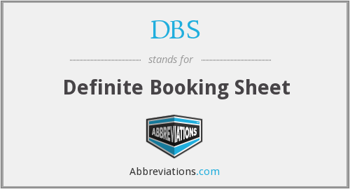 DBS - Definite Booking Sheet
