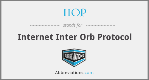 What does IIOP stand for?