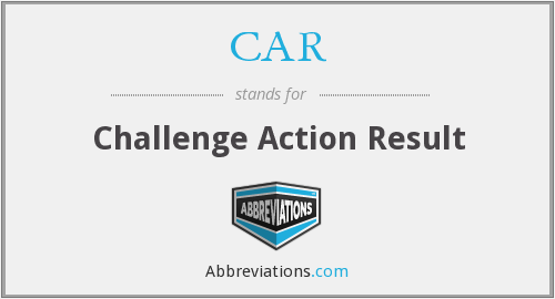 CAR - Challenge Action Result