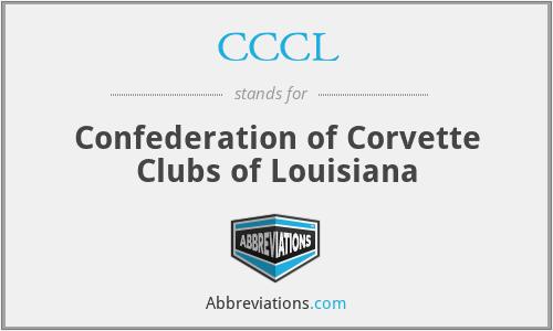 CCCL - Confederation of Corvette Clubs of Louisiana