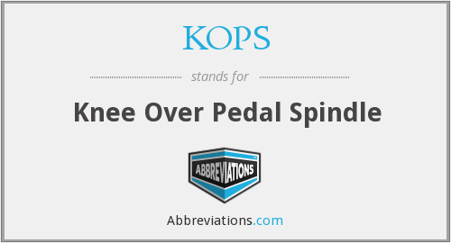 KOPS - Knee Over Pedal Spindle