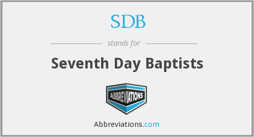 SDB - Seventh Day Baptists