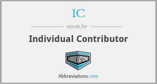 IC - Individual Contributor