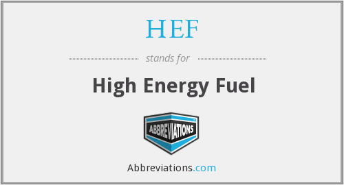 HEF - High Energy Fuel