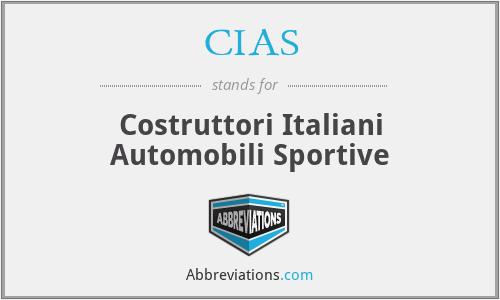 CIAS - Costruttori Italiani Automobili Sportive