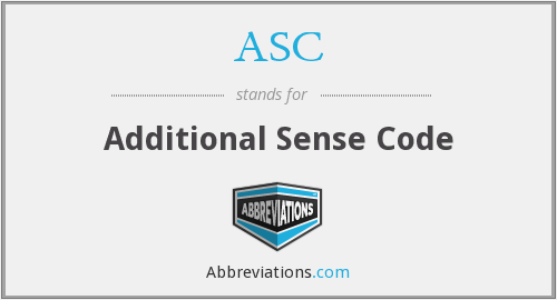 ASC - Additional Sense Code