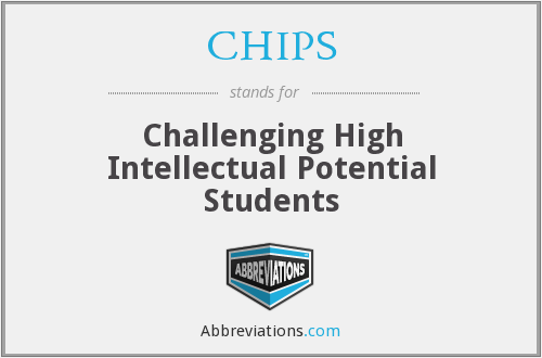 CHIPS - Challenging High Intellectual Potential Students