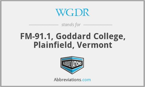 WGDR - FM-91.1, Goddard College, Plainfield, Vermont
