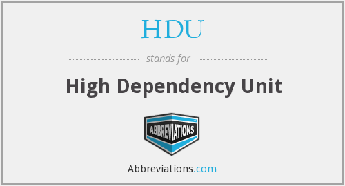 What does HDU stand for?