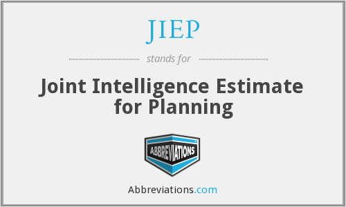 JIEP - Joint Intelligence Estimate for Planning
