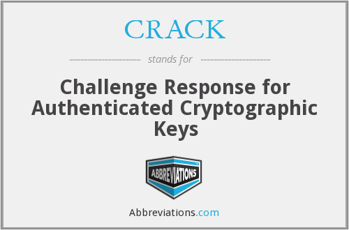CRACK - Challenge Response for Authenticated Cryptographic Keys