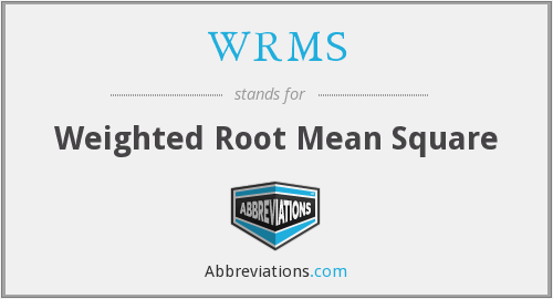What does WRMS stand for?